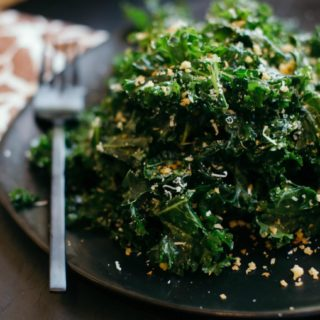 Kale Salad with Spicy Toasted Breadcrumbs